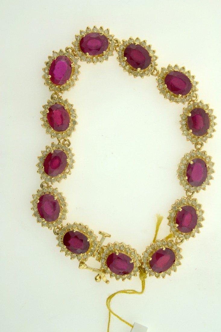 Ruby and Diamond Bracelet Appraised Value: $15,000