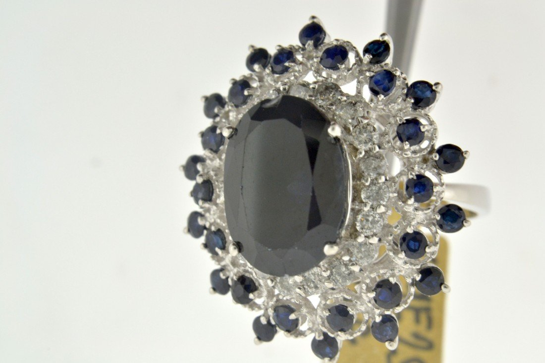Sapphire Diamond Ring Appraised Value: $13,568