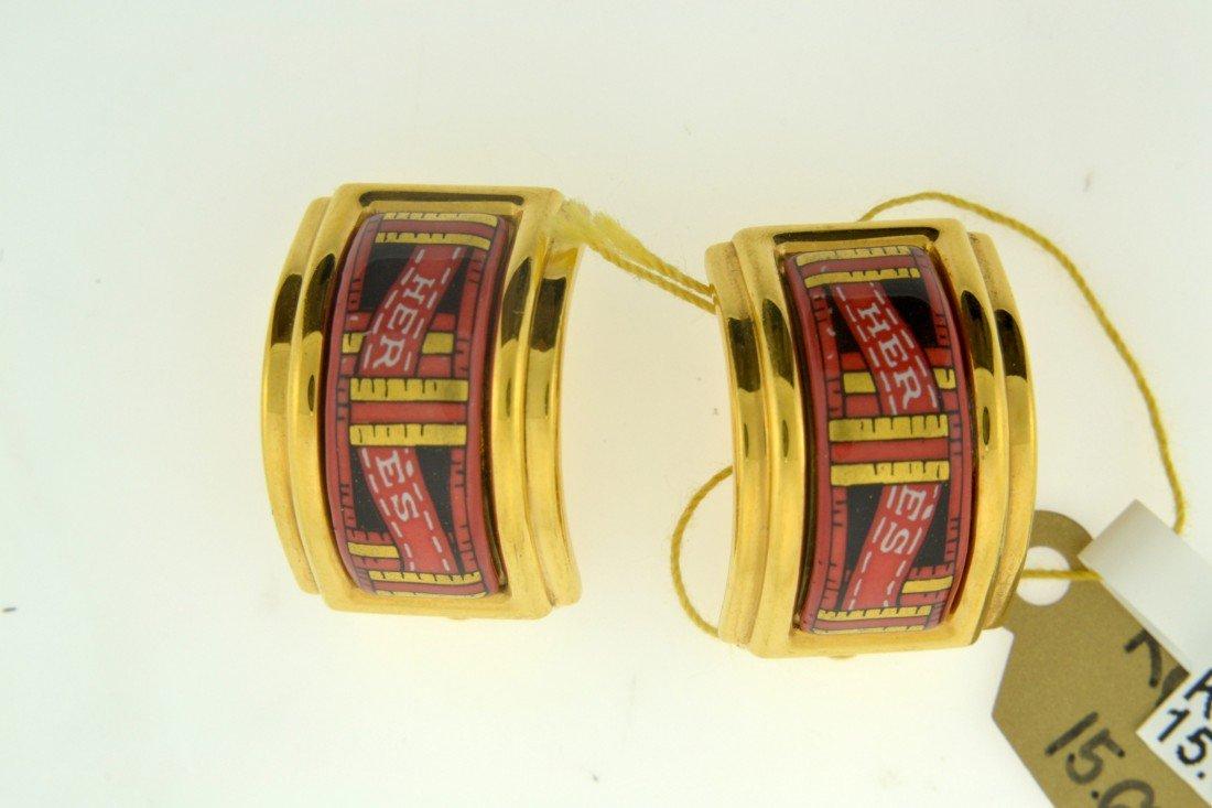 Genuine Hermes Clip-on Earrings