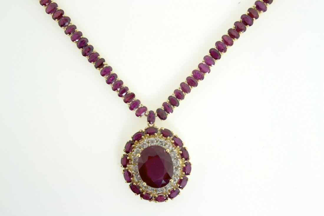 Ruby and Diamond Necklace Appraised Value:$25500