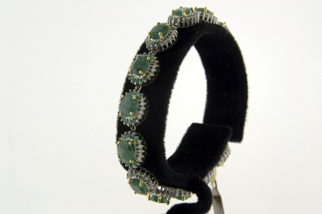 Emerald and Diamond Bracelet  Appraised Value: $17,669