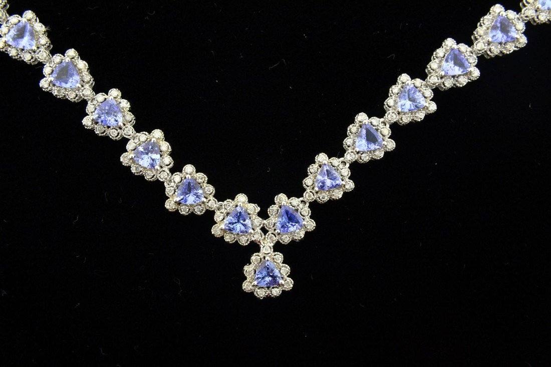 Tanzanite and Diamond Necklace  Appraised Value: $27250