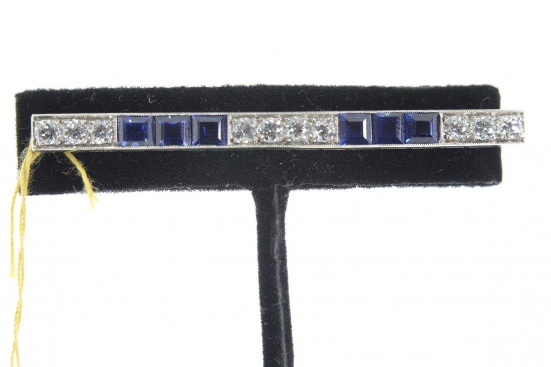 Tiffany & Co. Sapphire and Diamond Brooch