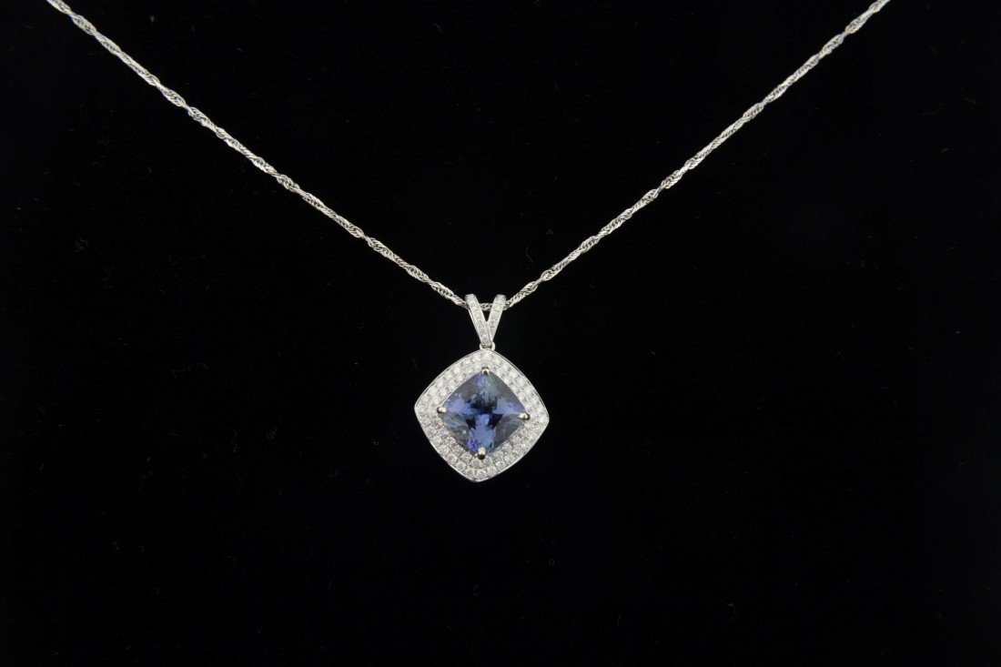 Tanzanite and Diamond Necklace Appraised Value: $13,200