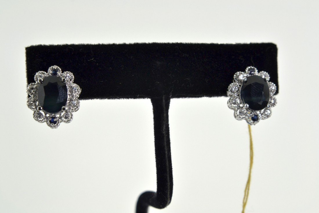 Blue Sapphire Earrings Appraised Value: $ 9,325