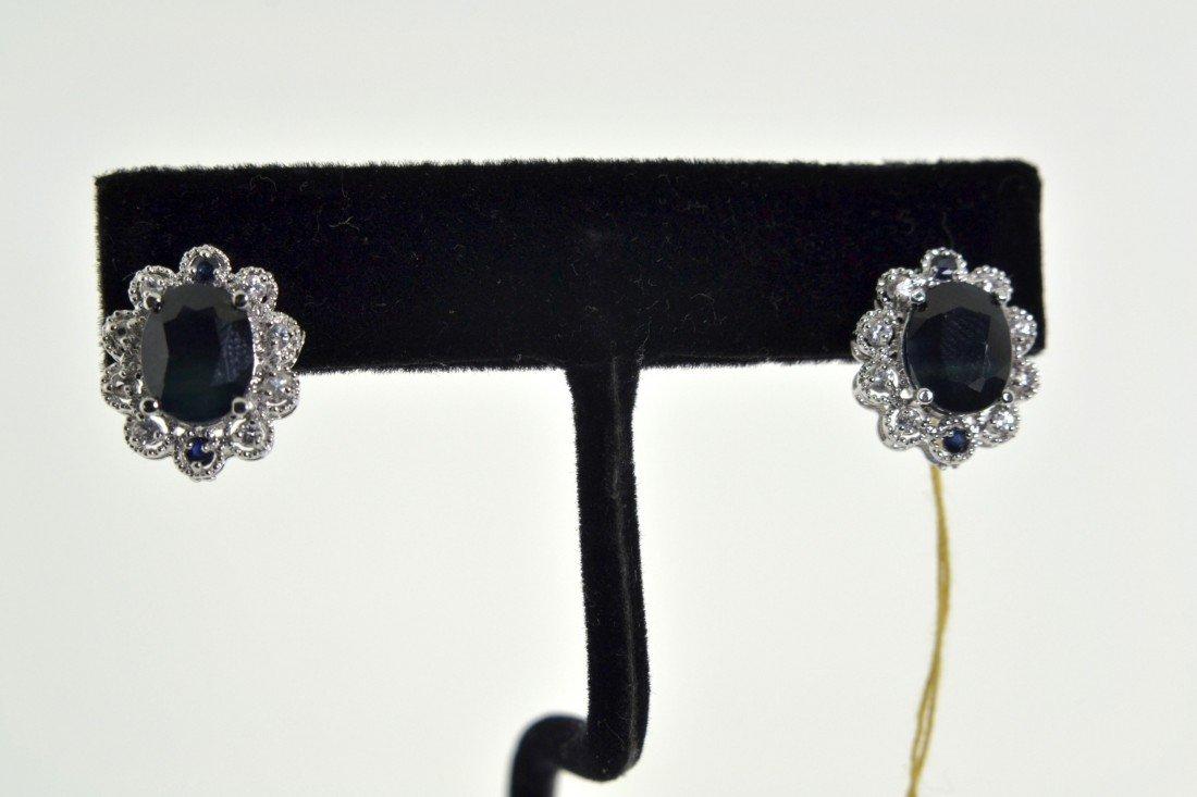 Blue Sapphire Earrings Appraised Value: $ 9,325