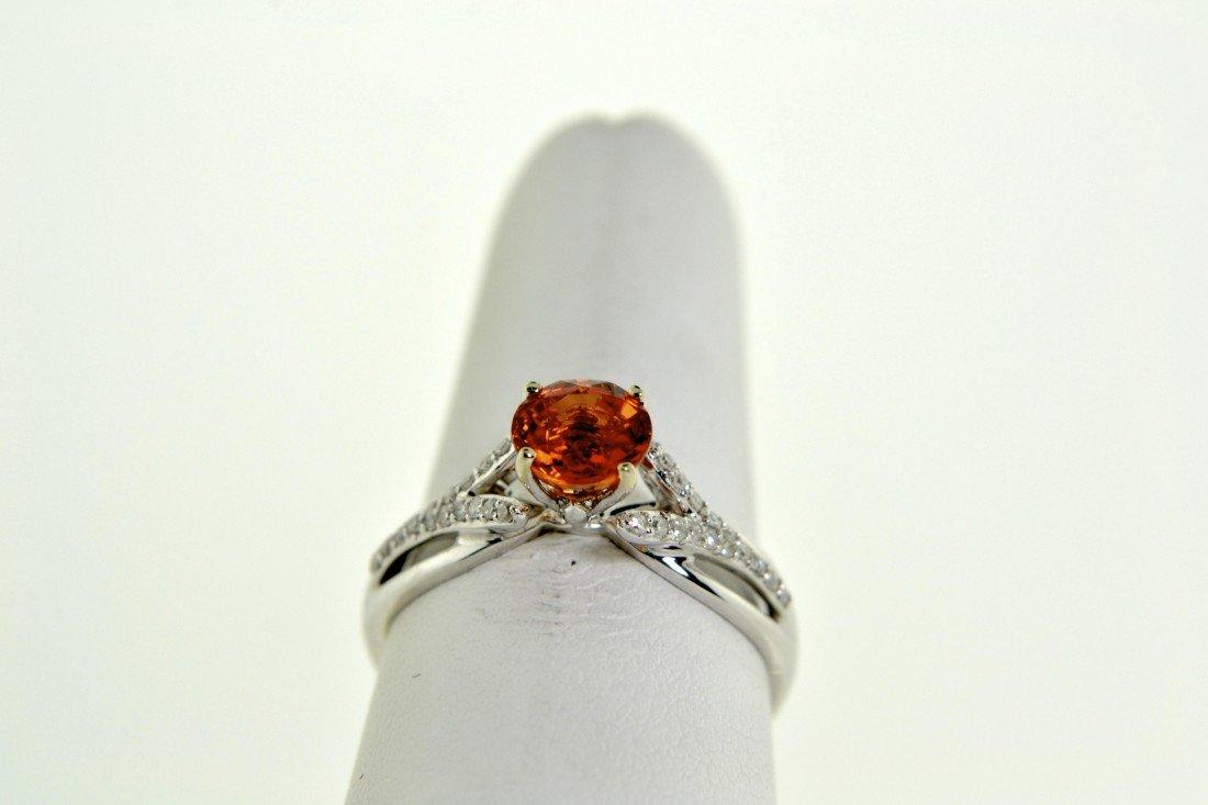 Orange Sapphire Ring Appraised Value: $ 4,376