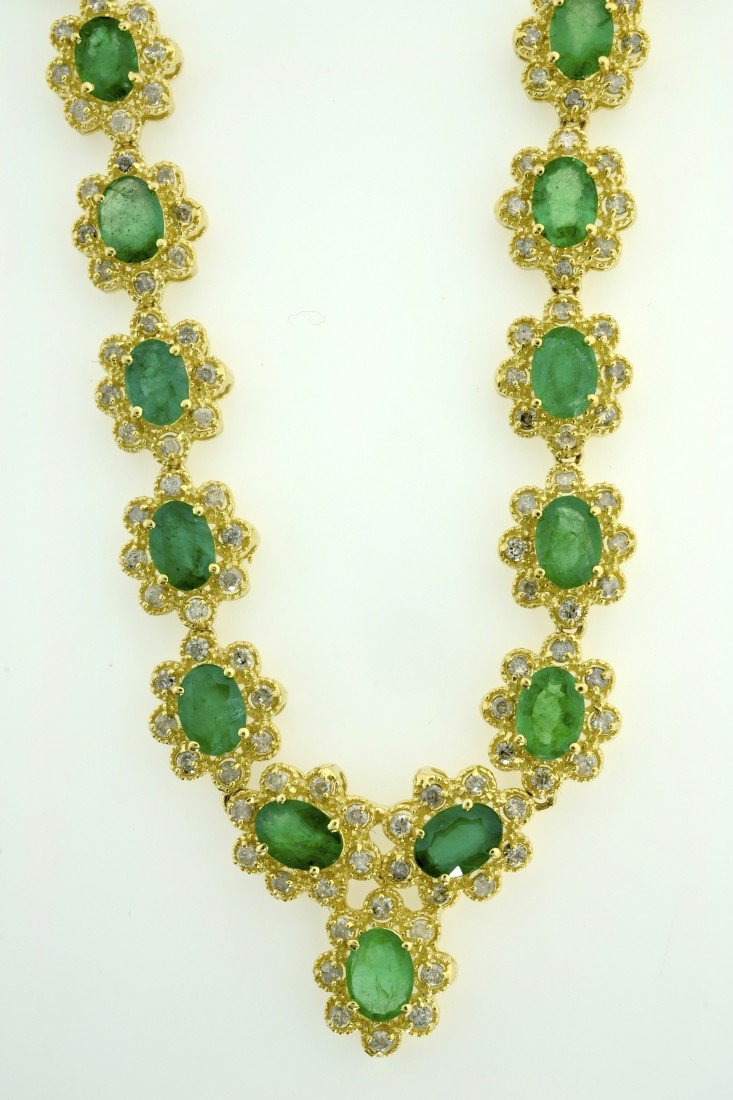 Emerald and Diamond Necklace Appraised Value: $30,600