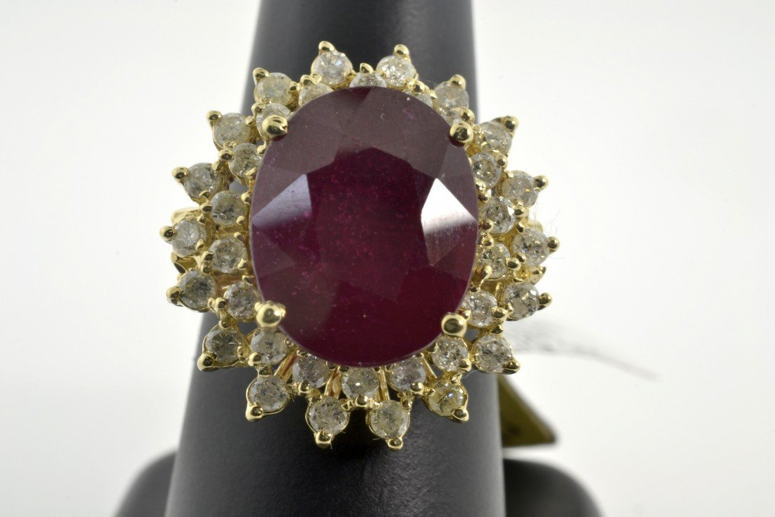 Ruby and Diamond Ring Appraised Value: $23,068