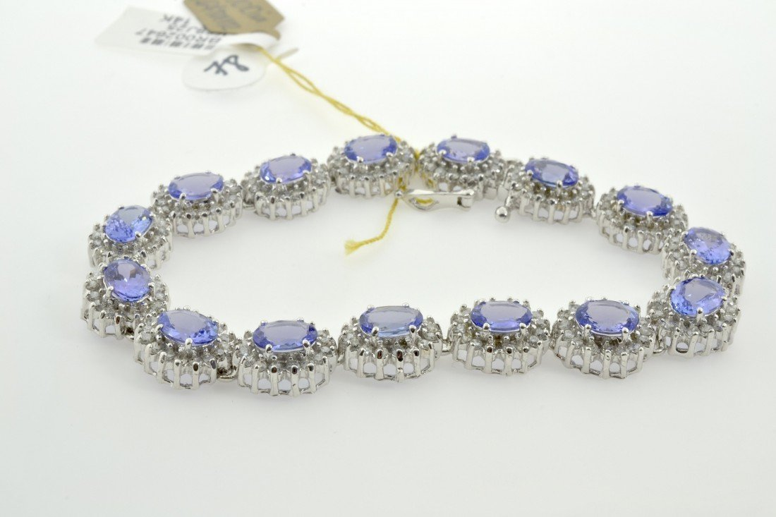Tanzanite and Diamond Bracelet Appraised Value: $18,100