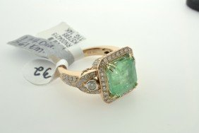 Emerald and Diamond Ring Appraised Value: $14,100