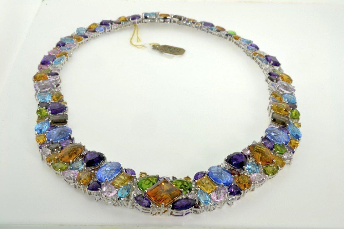 Custom Cast Multi-Colored Gemstone Necklace AV: $19,725