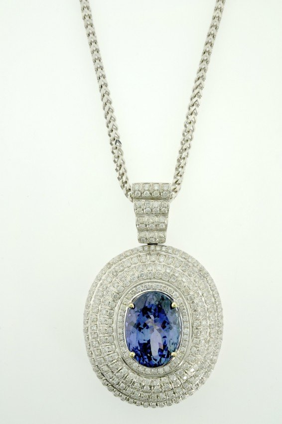 Tanzanite and Diamond Necklace Appraised Value: $30,100