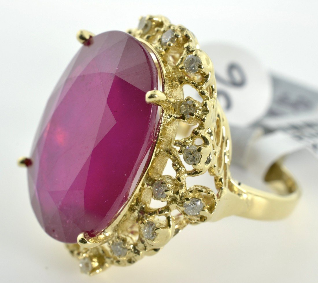 Ruby and Diamond Ring Appraised Value: $23,688