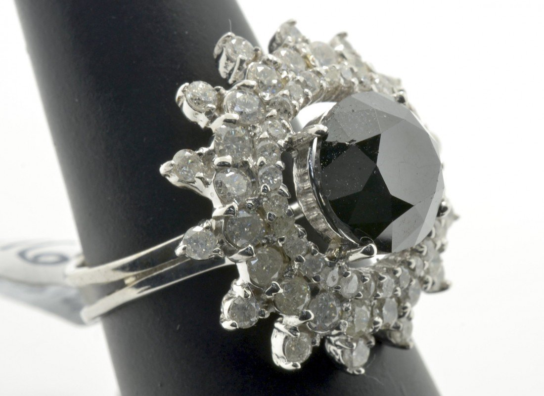 Black and White Diamond Ring Appraised Value: $18,796