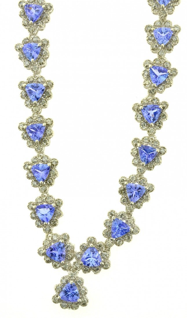 Tanzanite and Diamond Necklace Appraised Value: $29,065