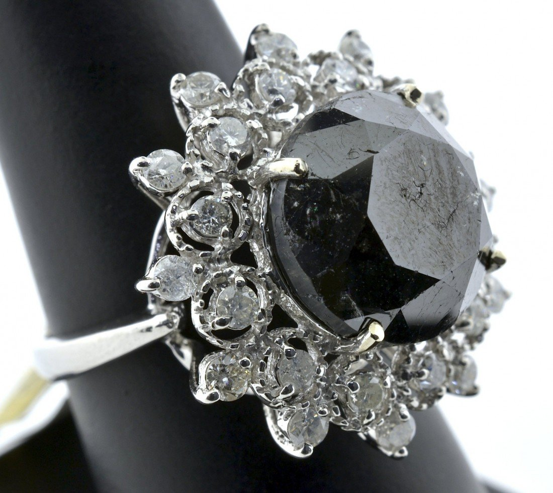 Black and White Diamond Ring Appraised Value: $25,100
