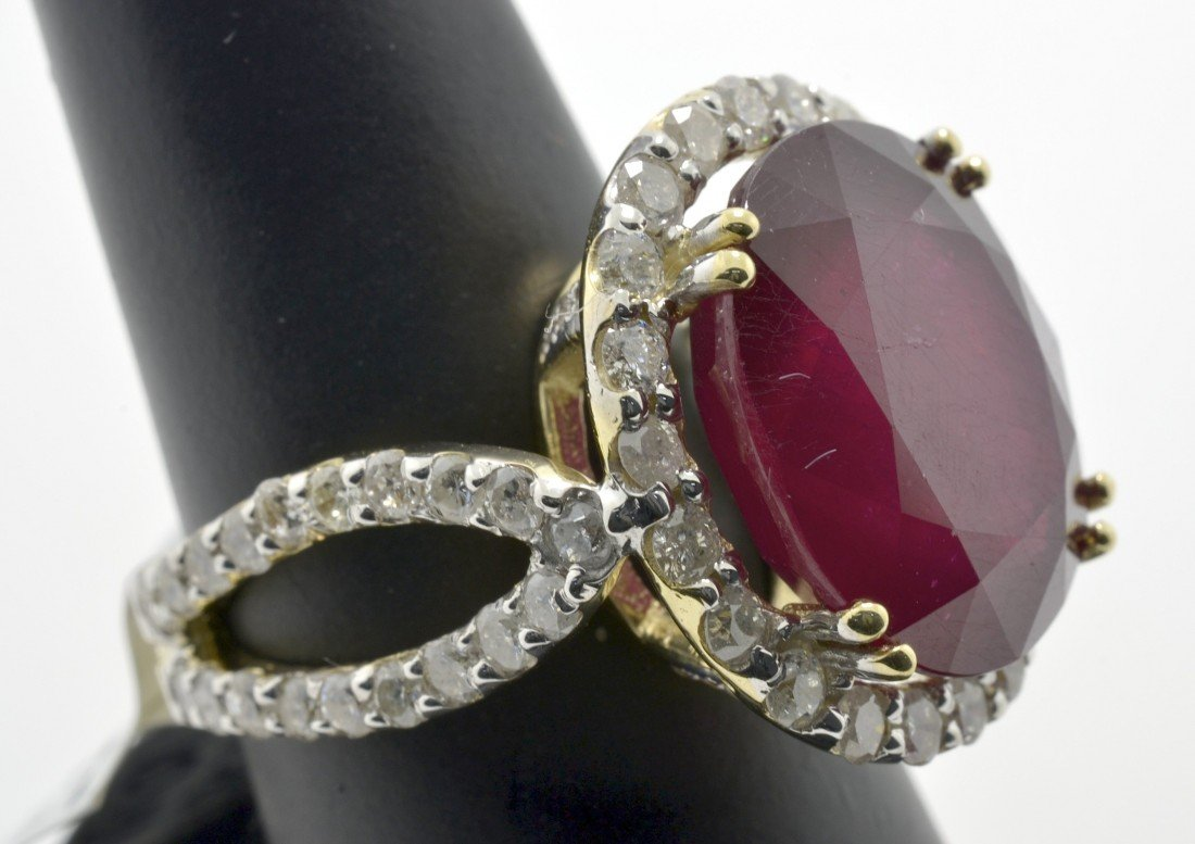 Ruby and Diamond Ring Appraised Value: $17,261