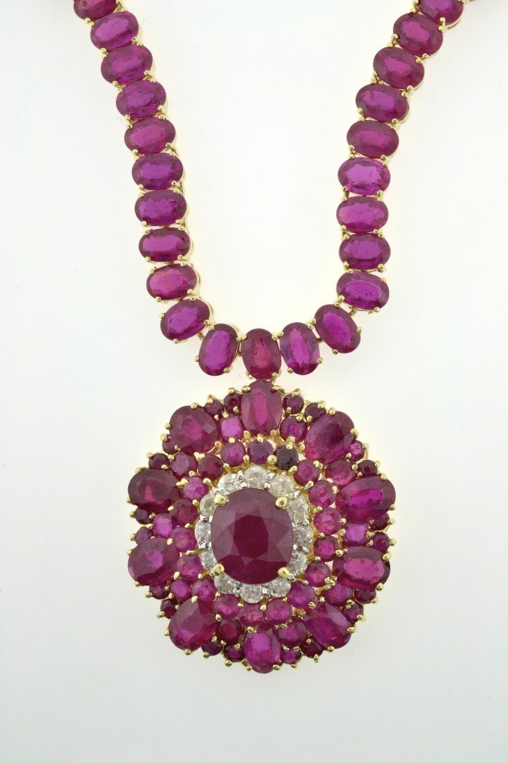 Ruby and Diamond Necklace Appraised Value: $32,350