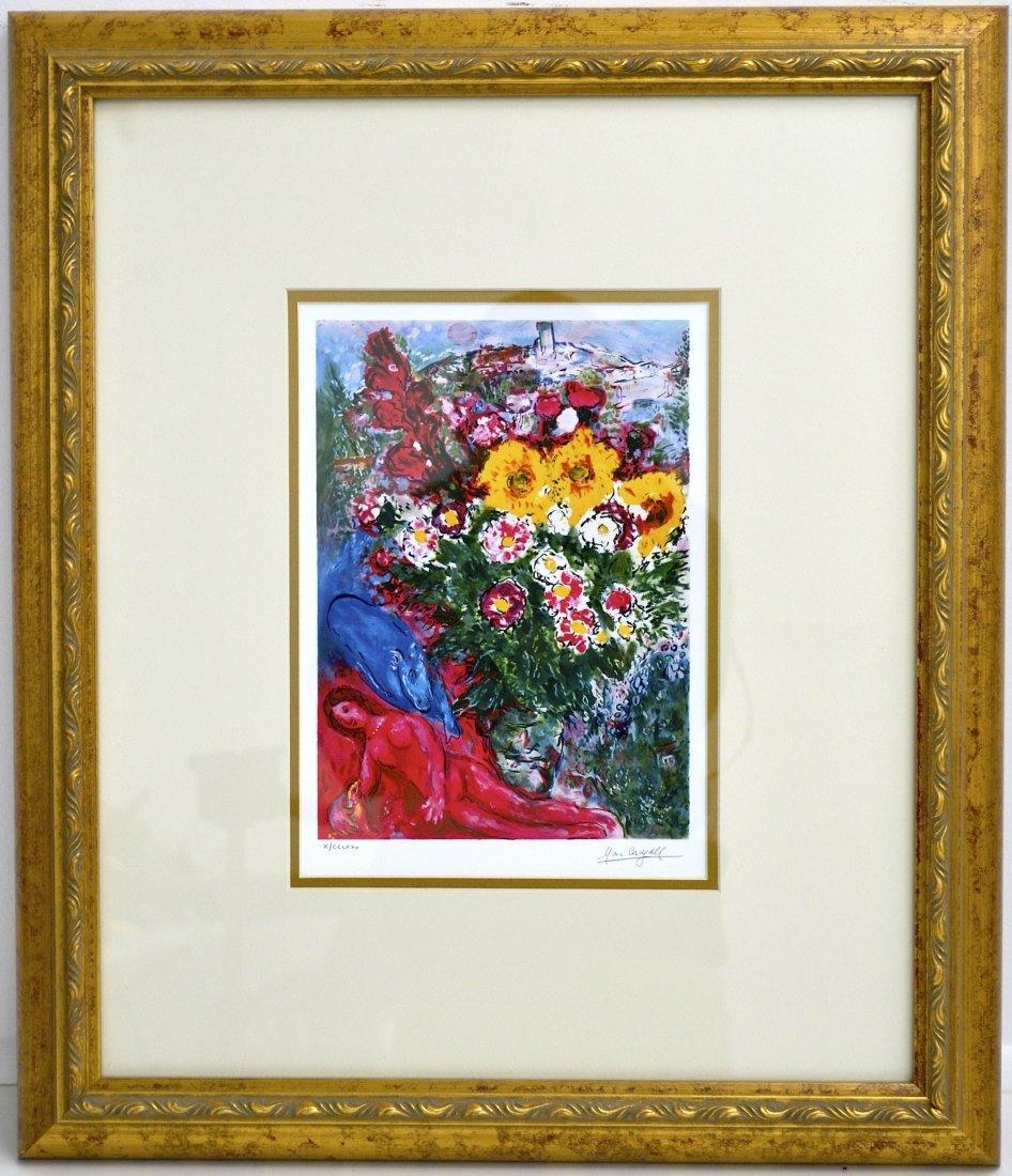"""Marc Chagall's """"Les Soucis"""" Art"""