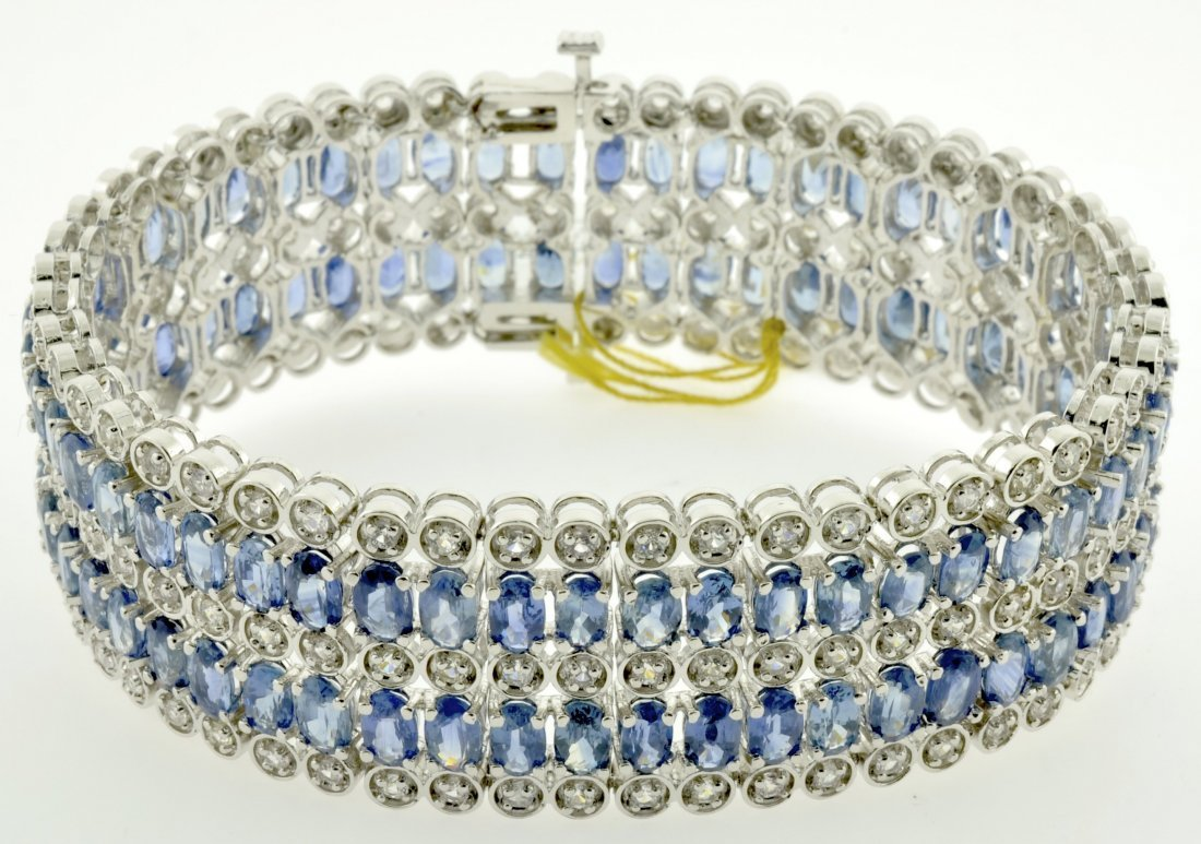 Sapphire Bracelet Appraised Value: $25,452