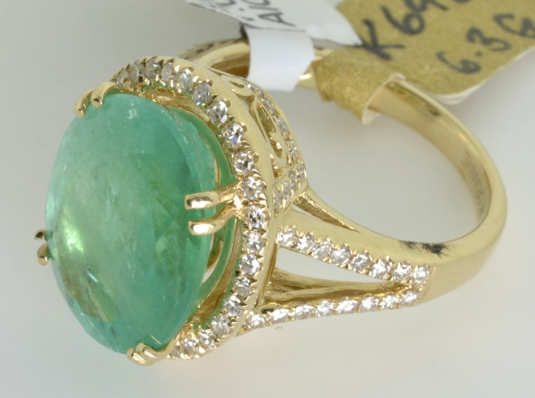 Emerald and Diamond Ring Appraised Value: $20,325