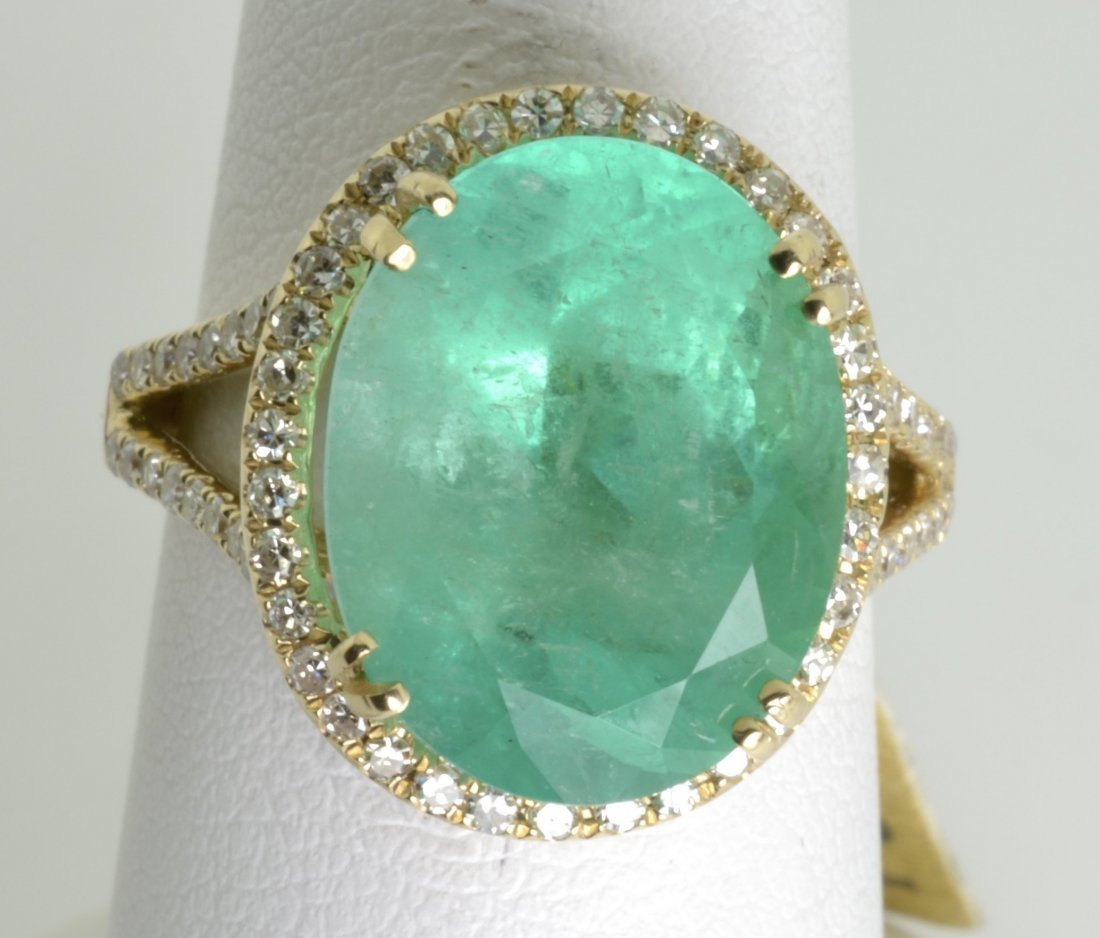Emerald and Diamond Ring Appraised Value: $20,325 - 3