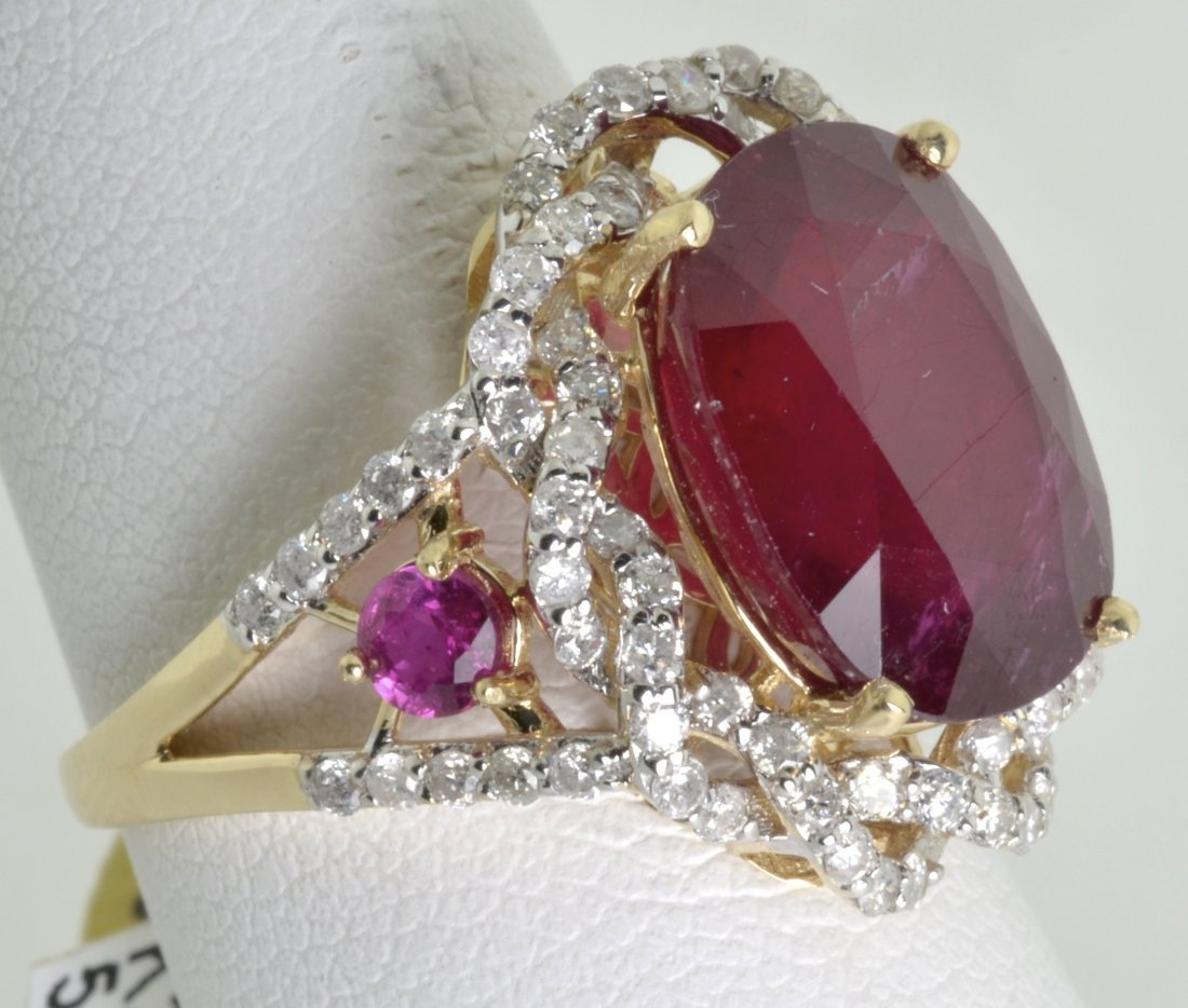 Ruby and Diamond Ring Appraised Value: $19,523