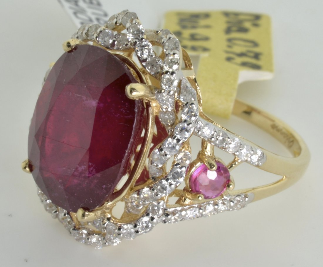 Ruby and Diamond Ring Appraised Value: $19,523 - 3