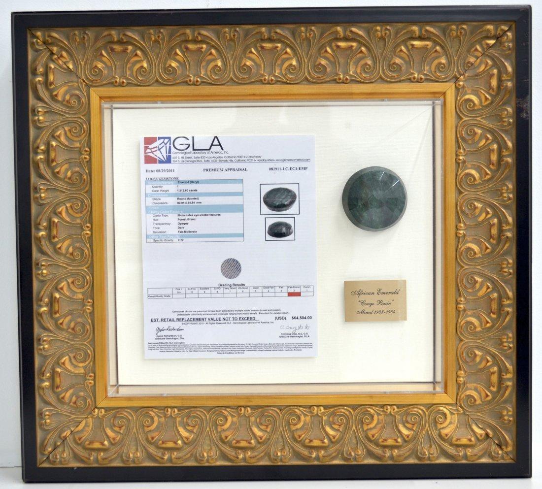 1312.60 ct Emerald Stone Appraised Value: $64,504