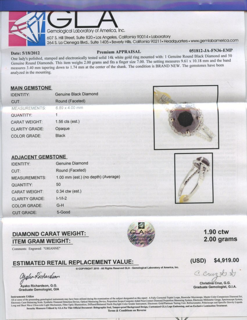 Diamond Ring Appraised Value: $4,919 - 2