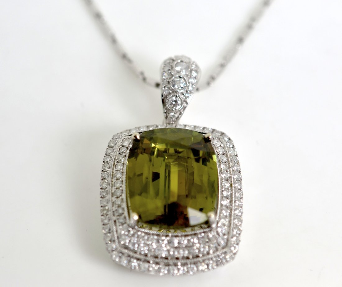 30 ct ALEXANDRITE (G.I.A.) & Diamond Necklace $410,900