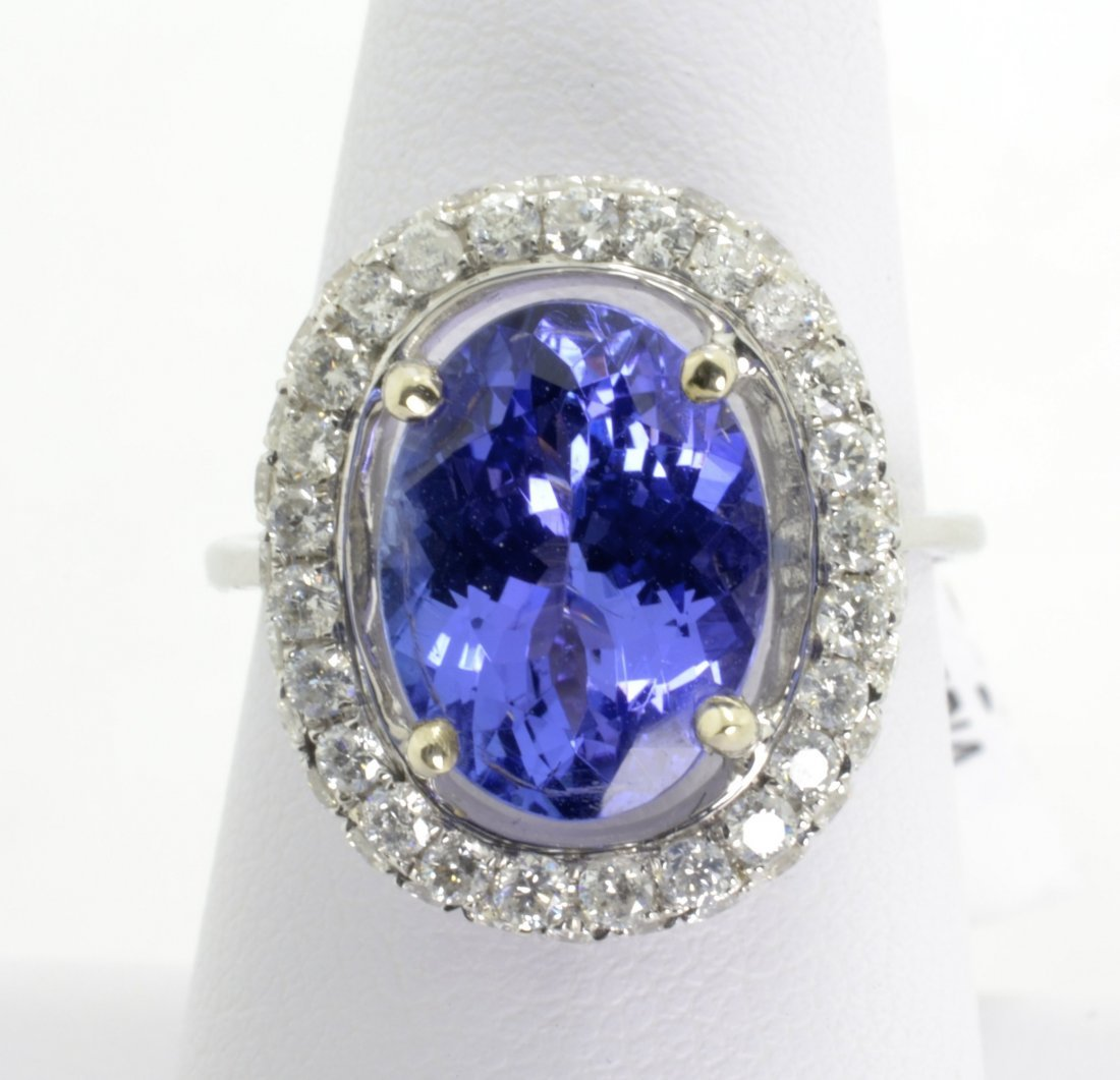 Tanzanite and Diamond Ring Appraised Value: $13,500