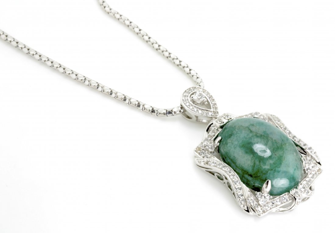 Emerald and Sapphire Necklace Appraised Value: $8,898
