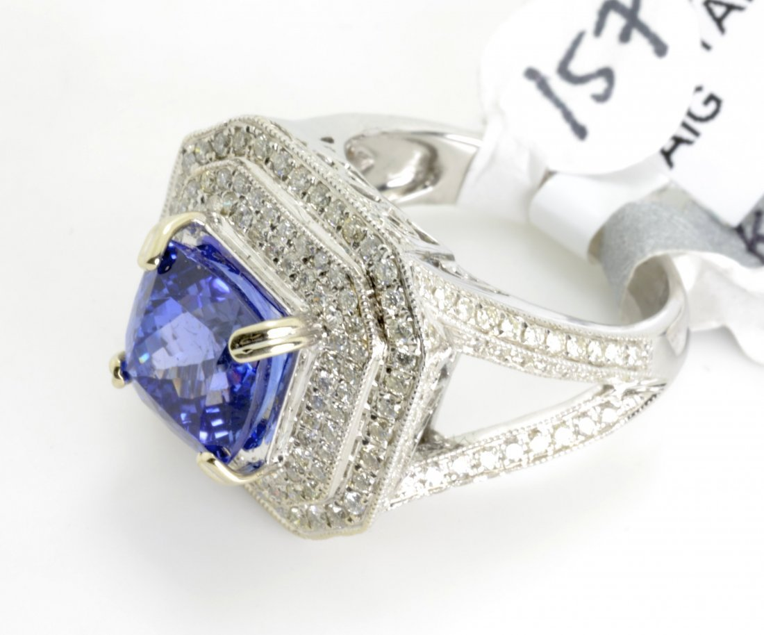Tanzanite and Diamond Ring Appraised Value: $17,200