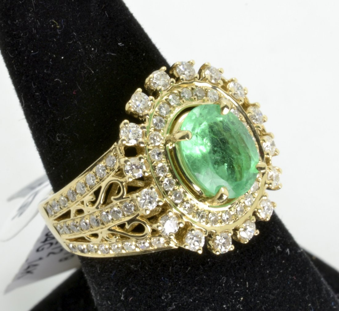 Emerald and Diamond Ring Appraised Value: $9,000