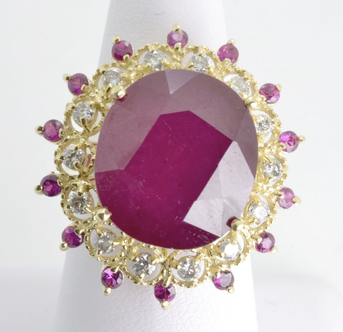 Ruby and Diamond Ring Appraised Value: $18,269