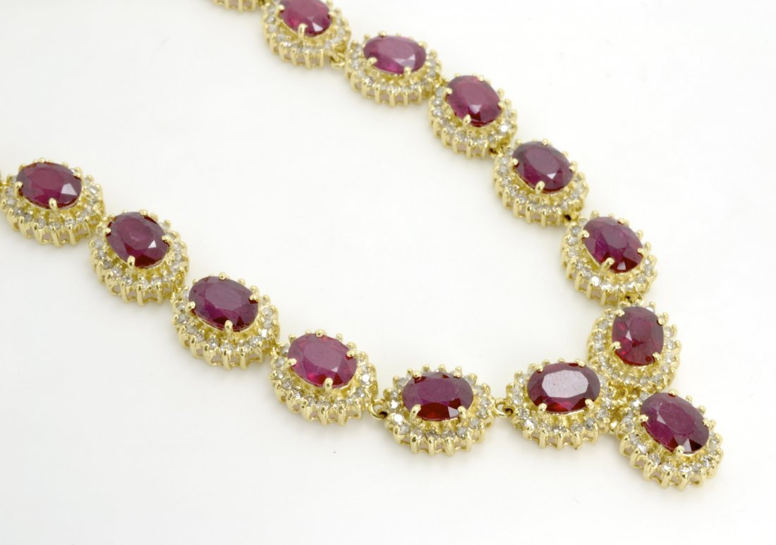 Necklace 67cts of Rubies & Diamonds Retail Value $32K