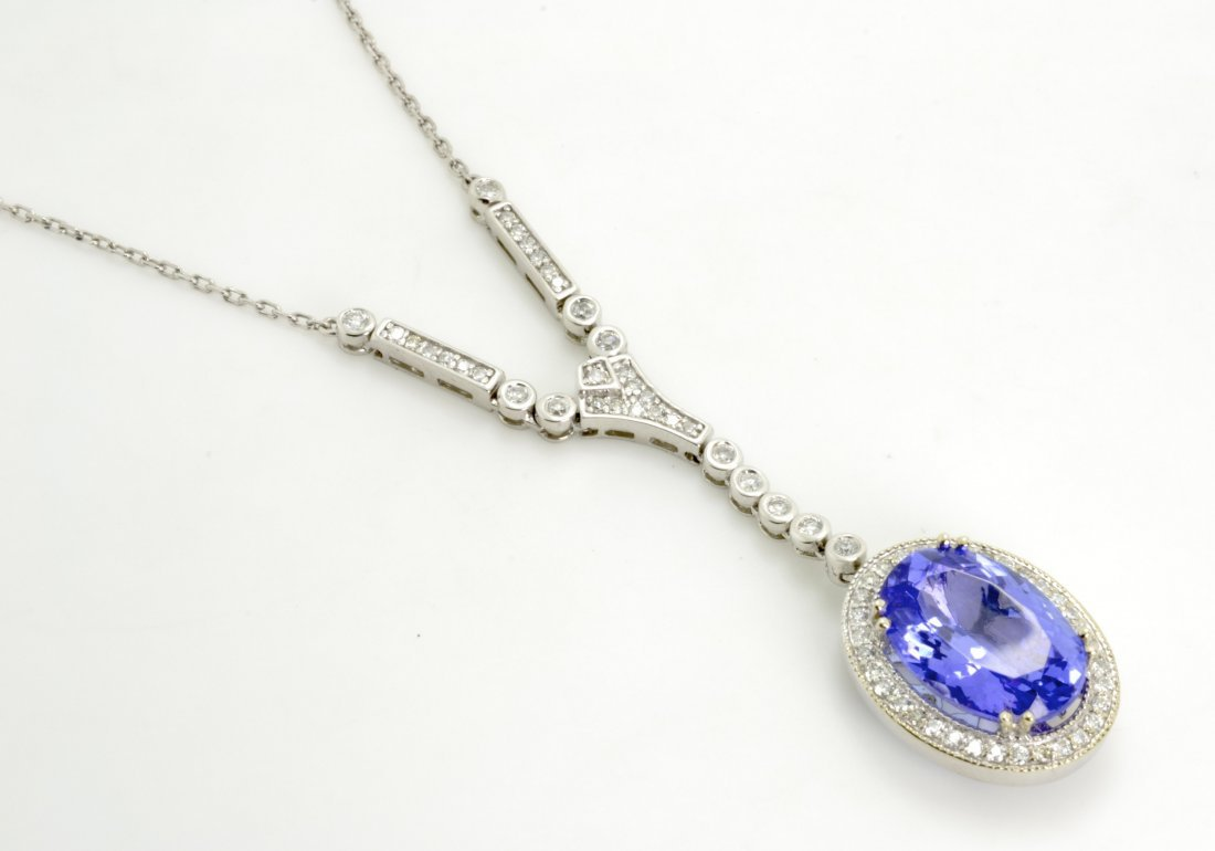 Tanzanite and Diamond Necklace Appraised Value: $14,095