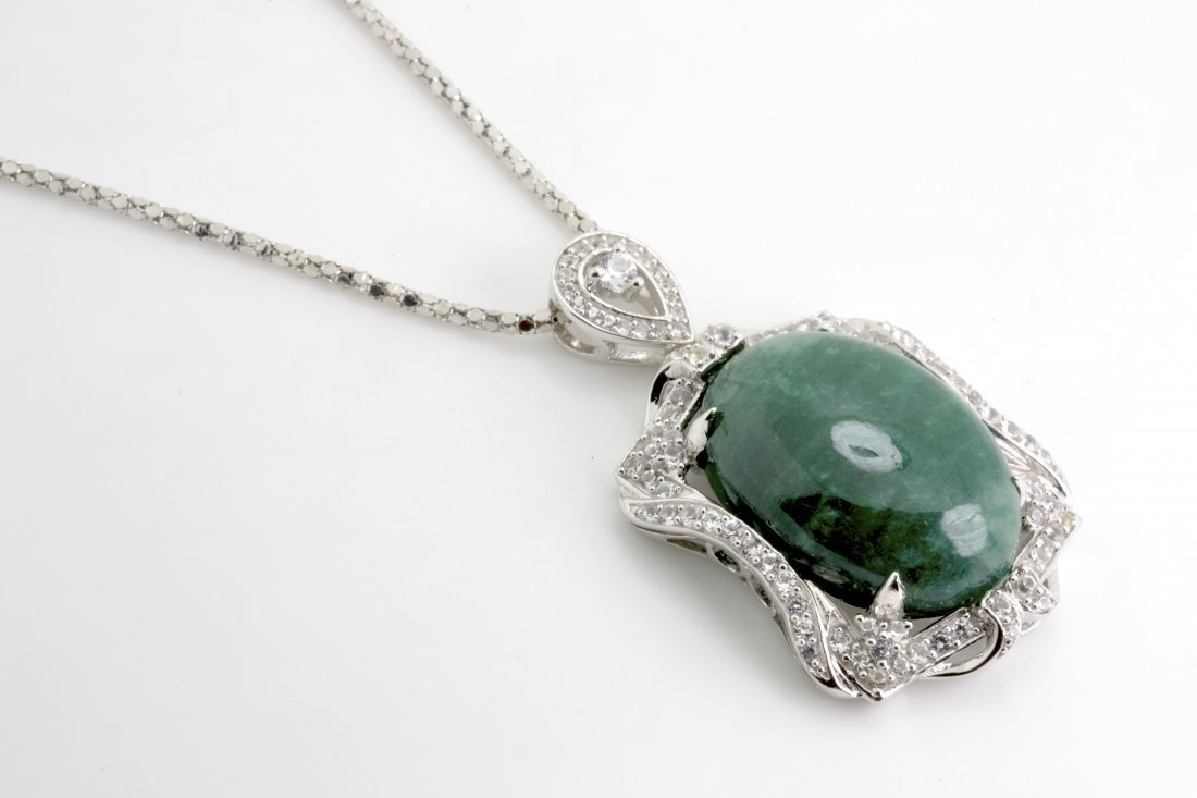 Emerald and Sapphire Necklace Appraised Value: $8,709