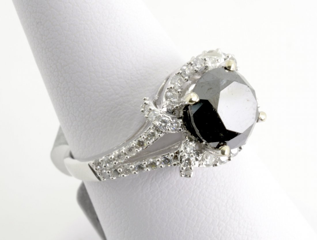 Black and White Diamond Ring Appraised Value: $5,100
