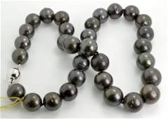 Tahitian South Sea Cultured Pearl Necklace AV 13309