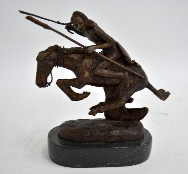 "Bronze Remington ""Cheyenne"" Statue"