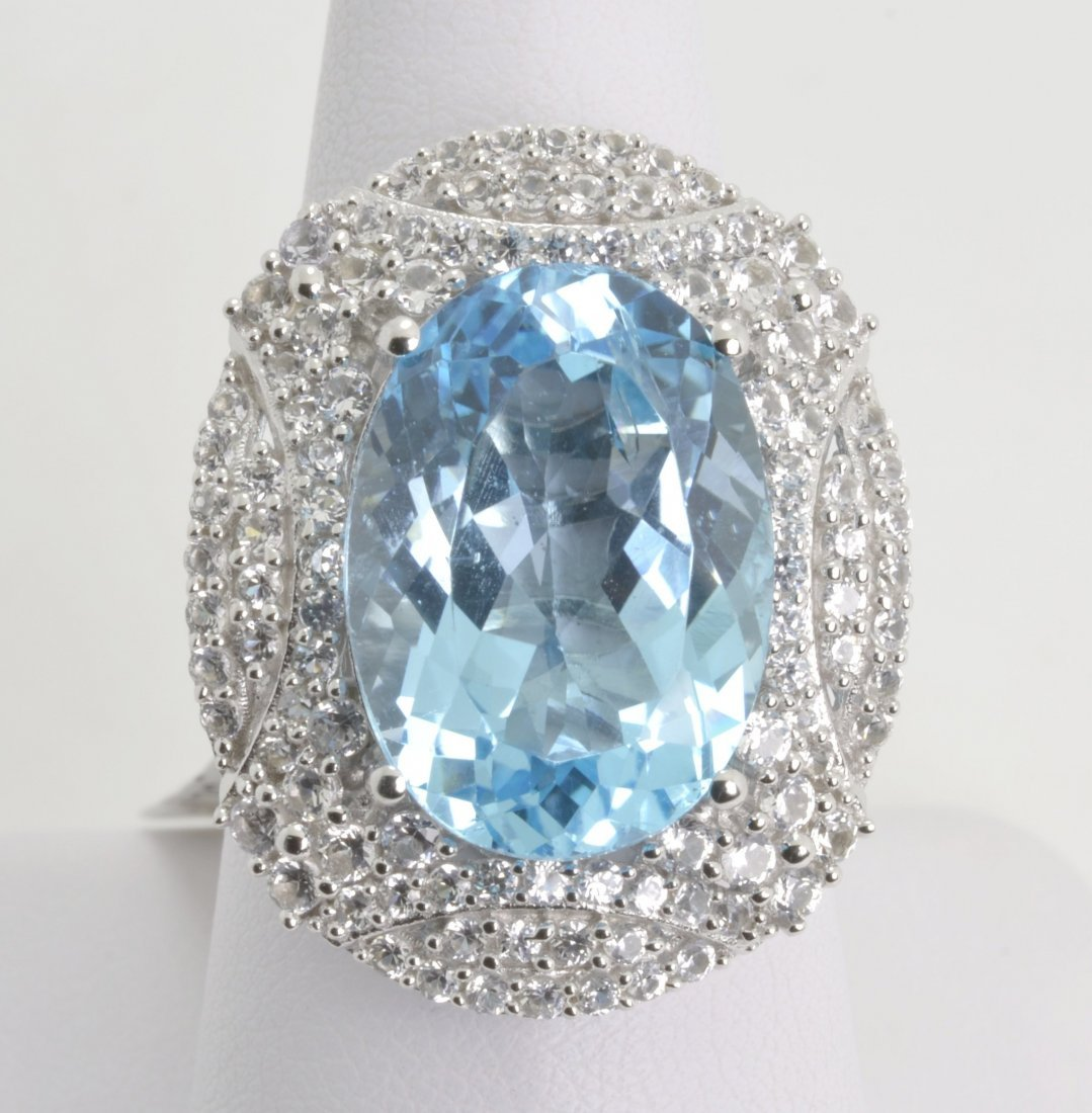 Topaz & Sapphire Ring Appraised Value: $6,271