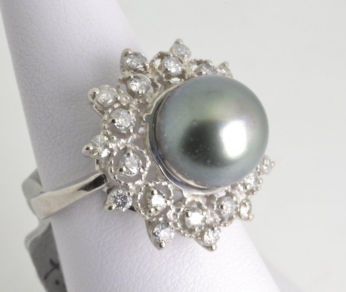 Tahitian Pearl & Diamond Ring Appraised Value: $4,385
