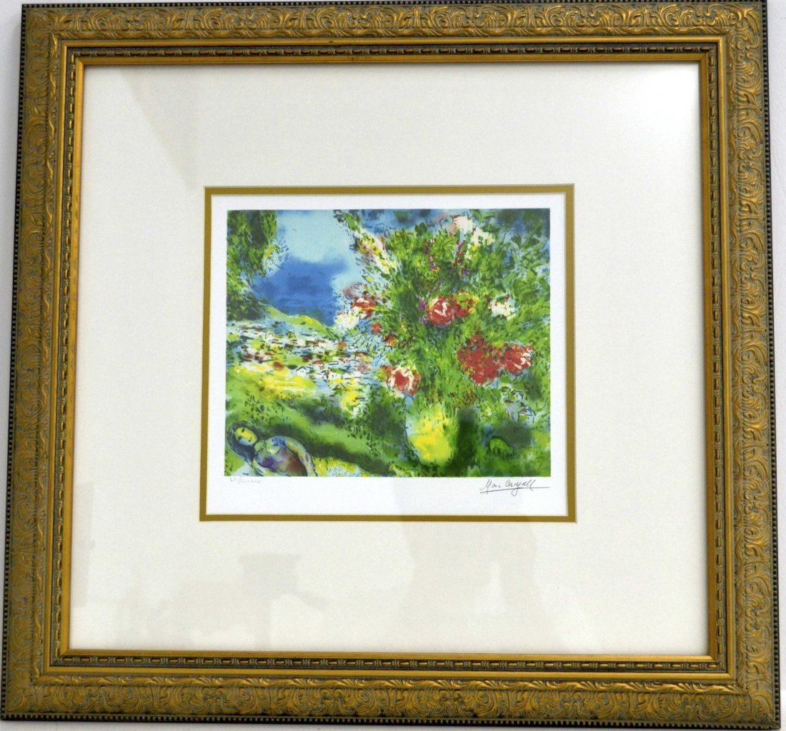 "Marc Chagall's ""Paysage"" Art (FRAMED)"