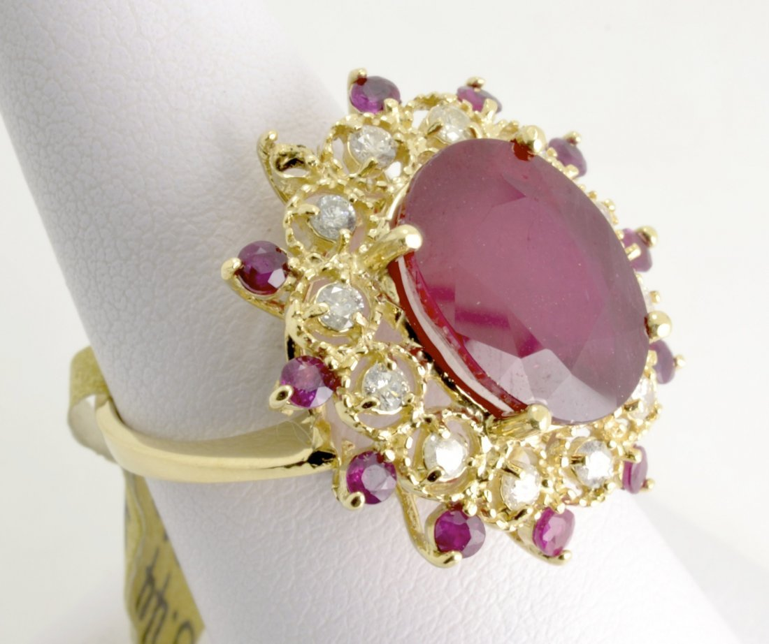 Ruby & Diamond Ring Appraised Value: $5,990