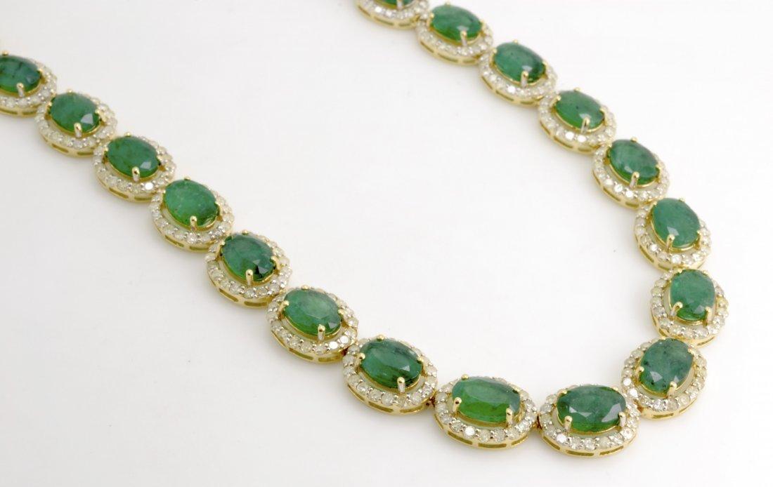 Emerald & Diamond Necklace Appraised Value: $34,700