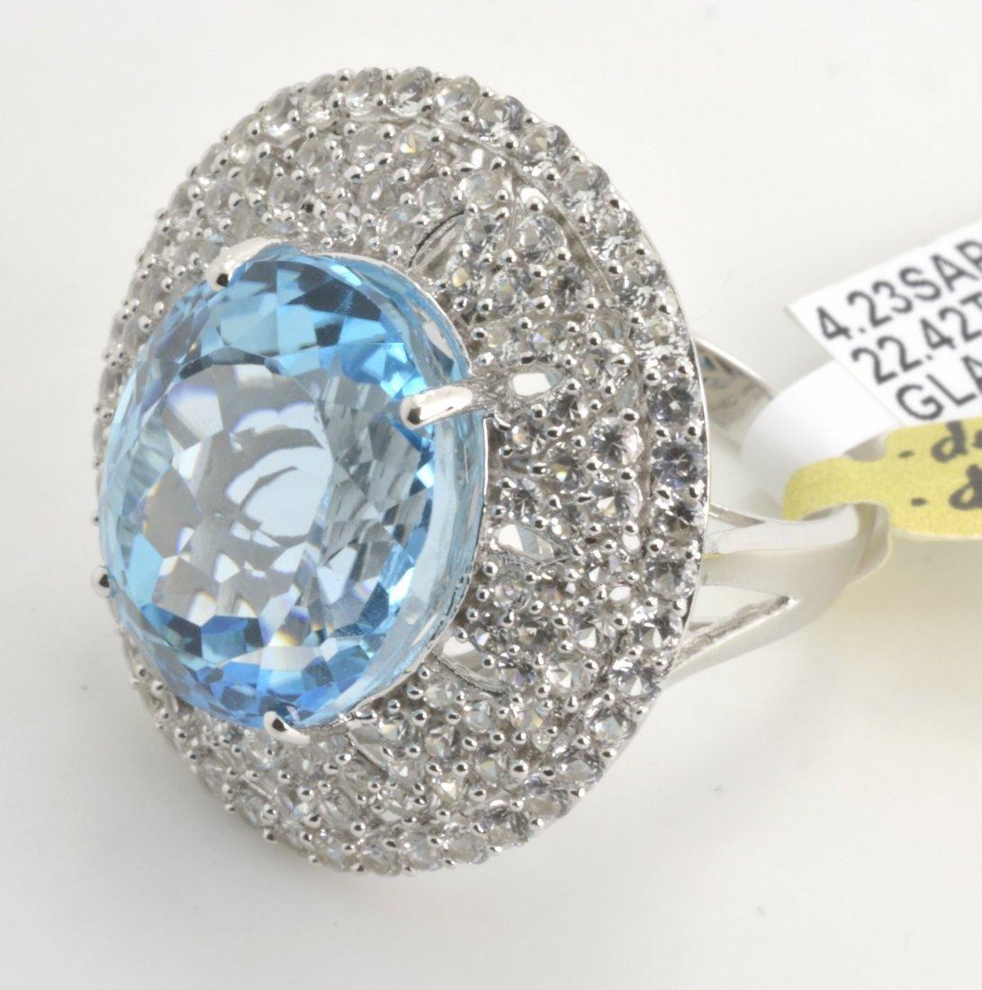 Topaz & Sapphire Ring Appraised Value: $8,404