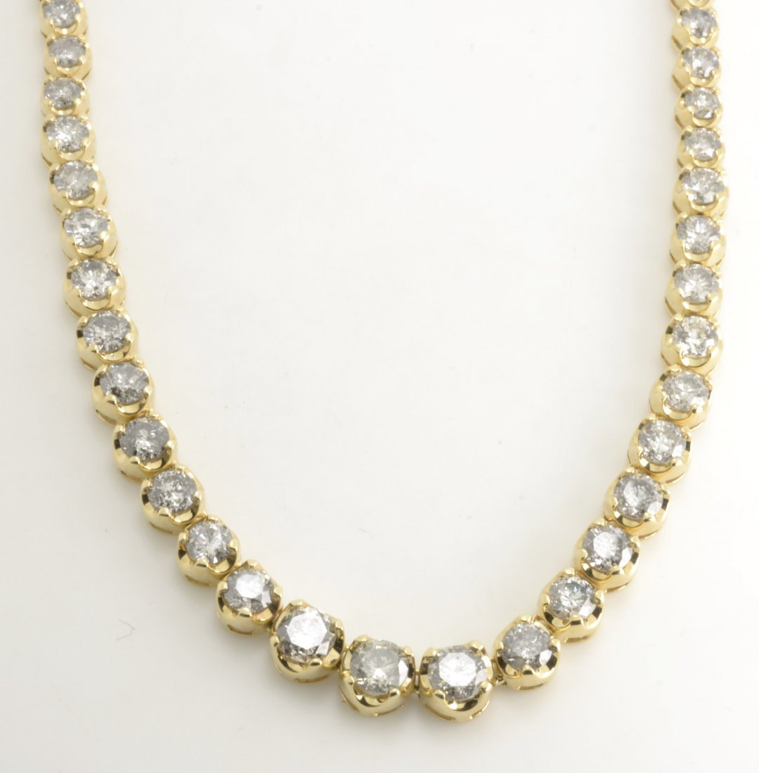 Diamond Tennis Necklace AV: $56,255
